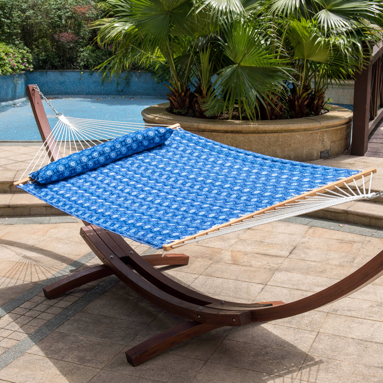 outdoor swing seat person two patio loveseat itm yard furniture hammock canopy bench