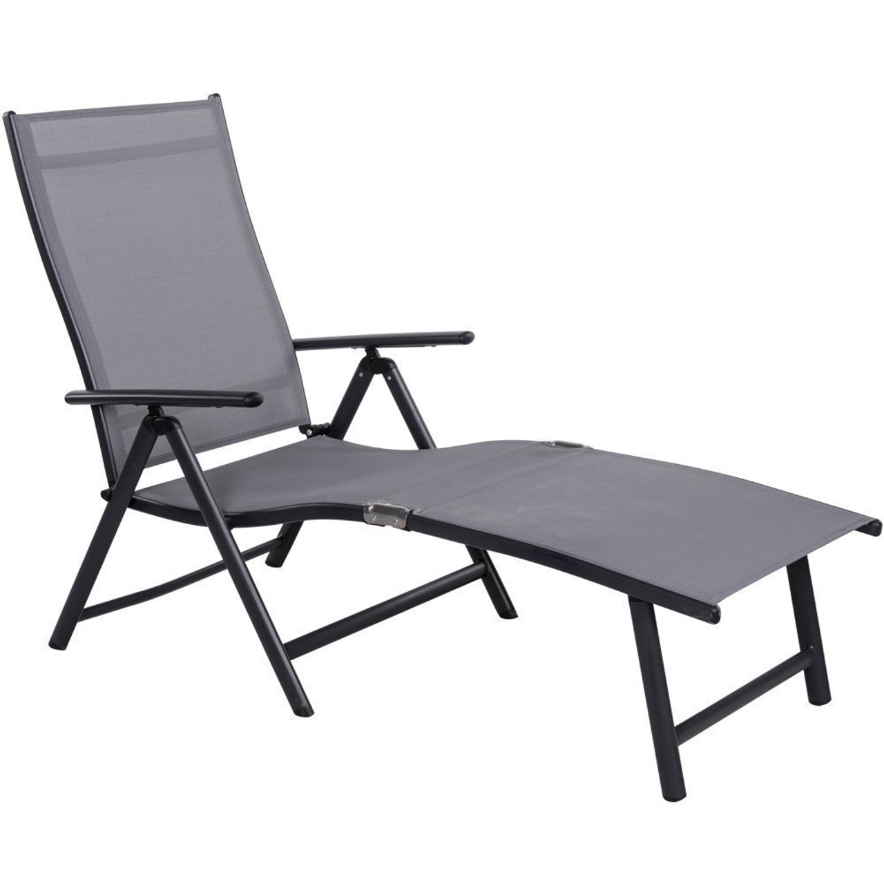 Superb Deluxe Aluminum Beach Yard Pool Folding Chaise Lounge Chair Recliner  Outdoor Patio