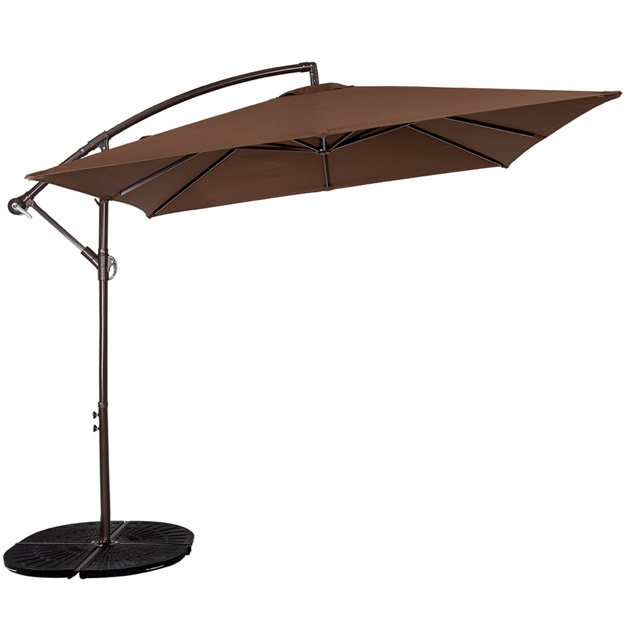 Genial Patio Garden 8.2 X 8.2 FT Square Offset Patio Umbrella With Crank (Coffee)