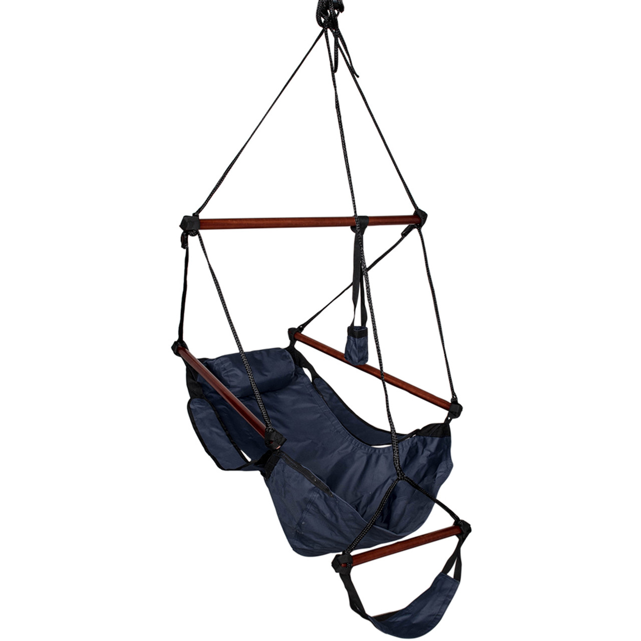 Lazy Daze Hammocks Cushioned Hanging Chair With Cup Holder,Footrest  U0026Hardware For Patio Garden Outdoor