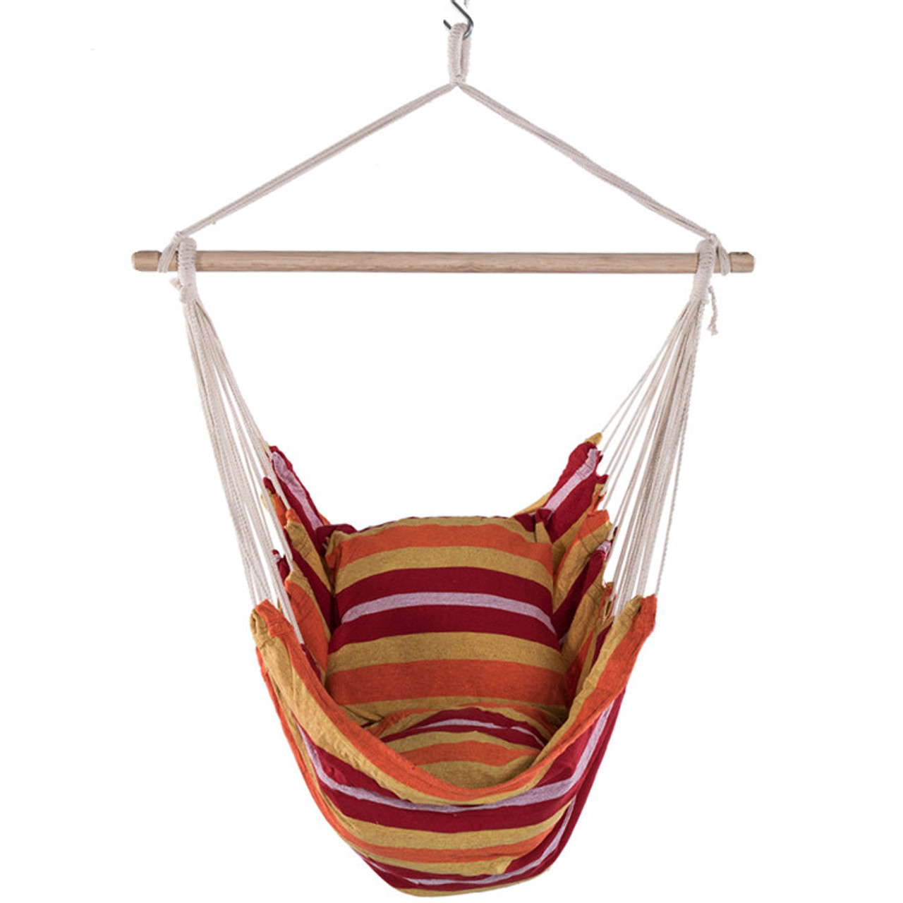 Lazy Daze Hammocks Hanging Rope Hammock Chair Swing Seat With 2 Seat  Cushions, Weight Capacity