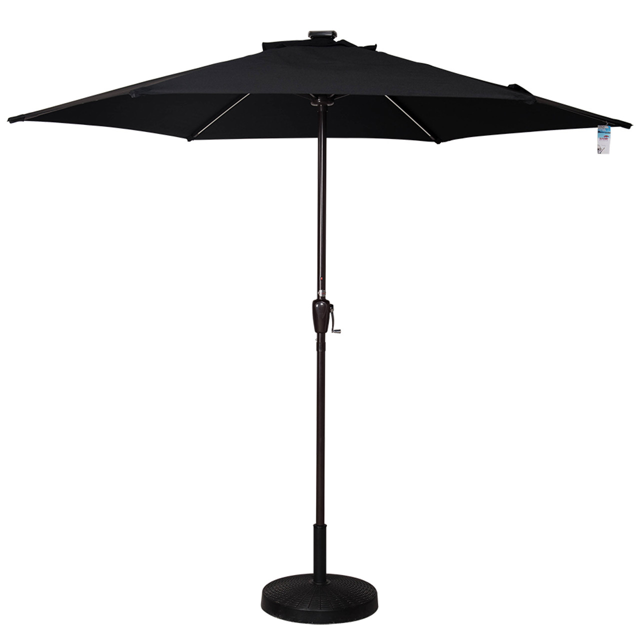 Led Patio Umbrella Reviews: Deluxe Solar Powered LED Stripe Lighted Outdoor Patio