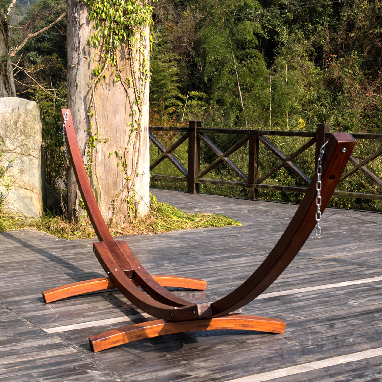 natural picture of montlake accessories p stand hammock heavy classic foot hardwood wood duty master