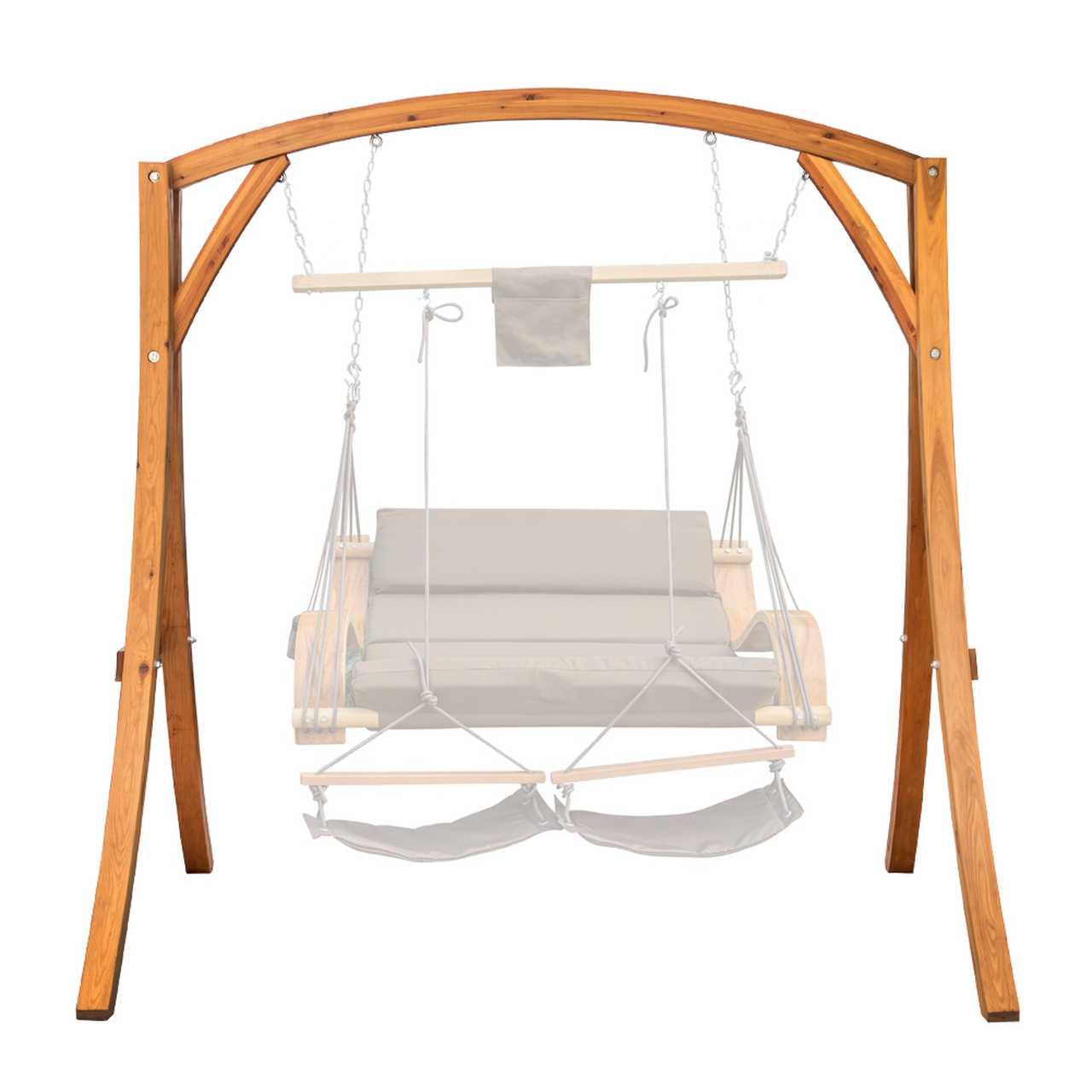swing chair with stand Lazy Daze Hammocks Deluxe Wooden Arc Frame Hammock Swing Chair  swing chair with stand