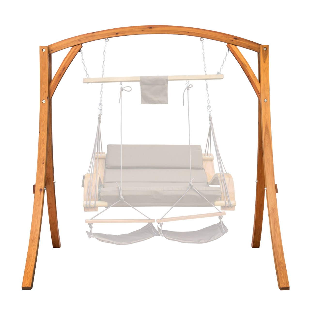 Superbe Lazy Daze Hammocks Deluxe Wooden Arc Frame Hammock Swing Chair Stand Heavy  Duty Russian Pine Hardwood, ...