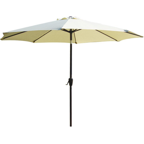 10 Feet Outdoor Aluminum Patio Umbrella(Light Yellow)