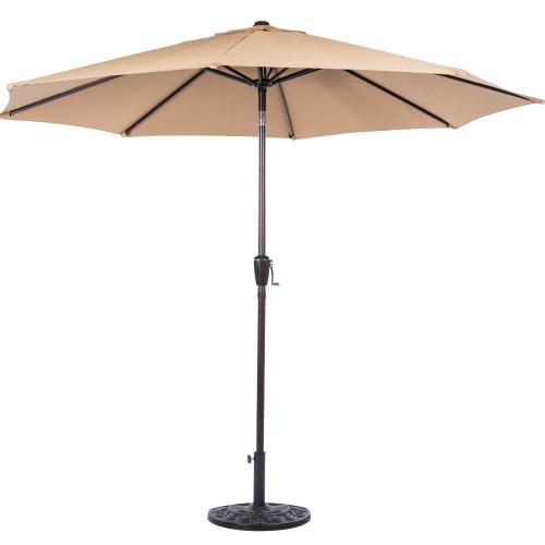 10 Feet Outdoor Aluminum Patio Umbrella(Tan)