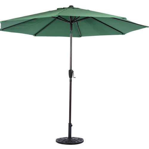 10 Feet Outdoor Aluminum Patio Umbrella(Dark Green)
