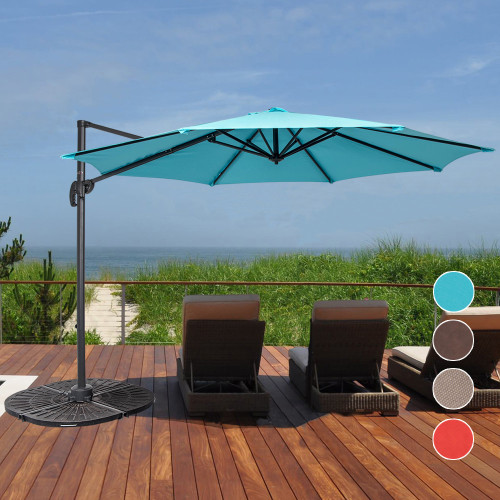10ft Hanging Roma Offset Umbrella(Light Blue)