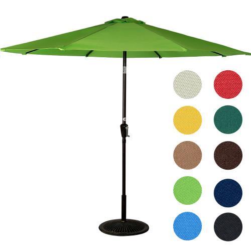 9 Feet Aluminum Patio Umbrella(Apple Green)