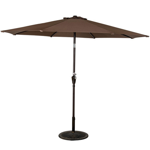 9FT Patio Garden Outdoor Market Umbrella with Crank (Coffee)