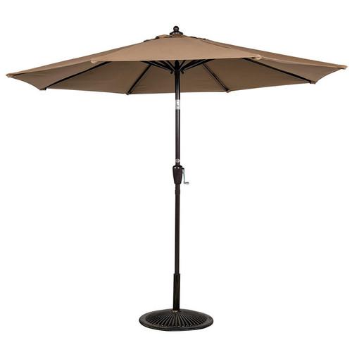 9FT Patio Garden Outdoor Market Umbrella with Crank (Khaki)