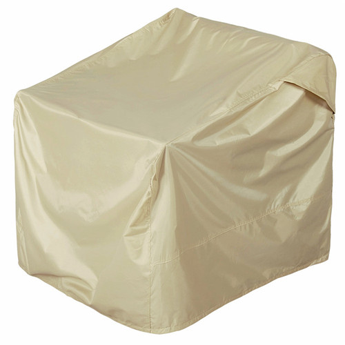 Patio Lounge Chair Club Chair Cover, fit up to 22L x 28W x 31/33H inches, Beige