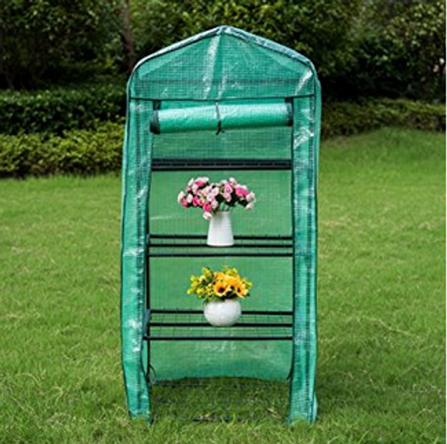 "Mini Green House with 4 Tier and PE Cover,27""(L) x 19""(W) x 63""(H)"