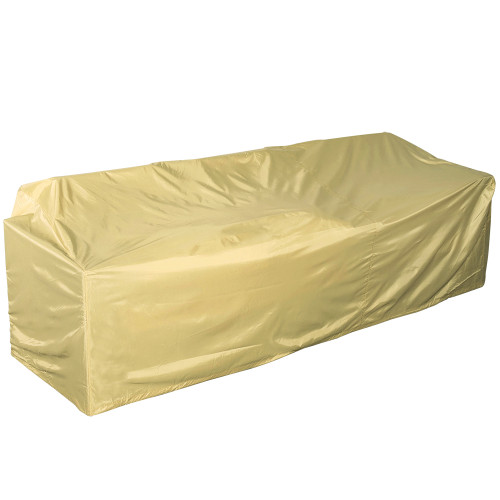 Heavy Duty Patio Bench Cover with PVC Coating, fit up to 95L x 34W x 24/35H inches, Beige
