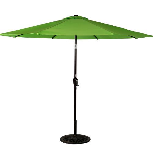 10 Feet Aluminum Patio Umbrella with Crank and Push Button Tilt, 8 Steel Ribs (Apple Green)