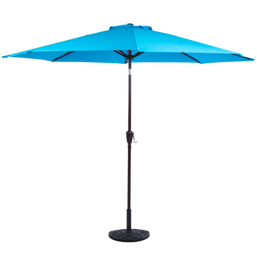 9-Feet Polyester Patio Umbrella with 8 Aluminum Ribs,Turquoise