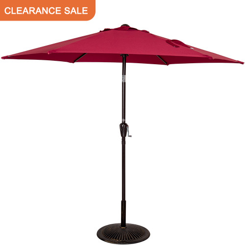 8.2 FT Patio Garden Outdoor Market Umbrella with Push Button Tilt (Burgundy)