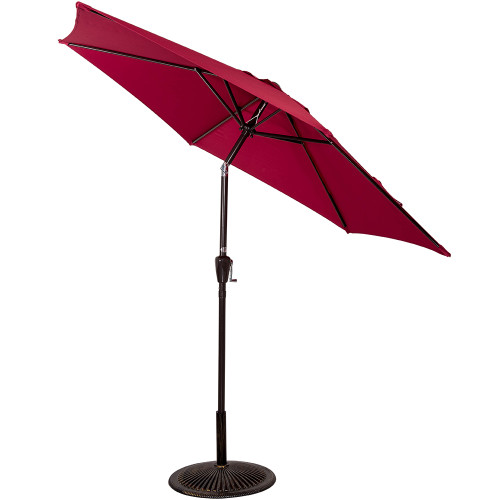 8.2 FT Patio Garden Outdoor Market Umbrella with Push Button Tilt (Burgundy)
