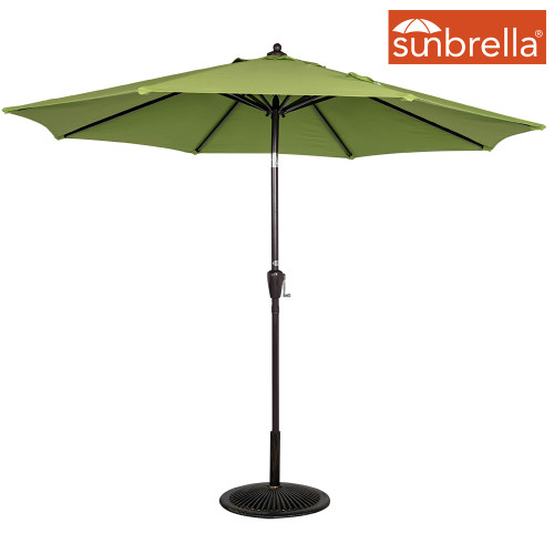8.2 Ft Sunbrella® acrylic Patio Garden Outdoor Market Umbrella,Push Button Tilt and Crank (Macaw Green)