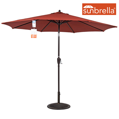 8.2 Ft Sunbrella® acrylic Patio Garden Outdoor Market Umbrella,Push Button Tilt and Crank (Terracotta)