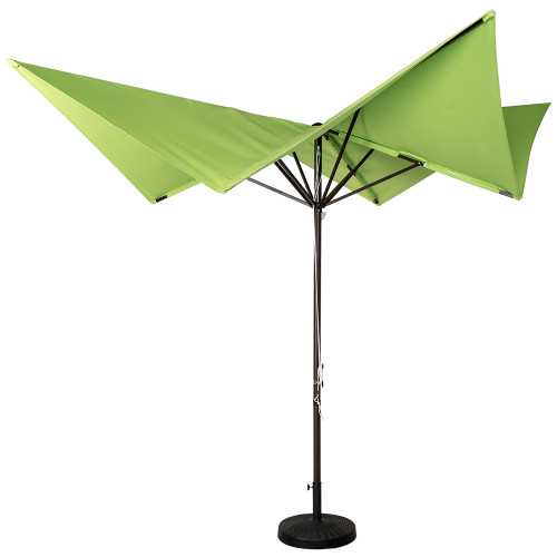 Patio Garden 8.5x8.5 Ft Outdoor Butterfly Market Umbrella with Hand Push, 220g Polyester