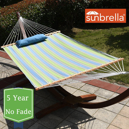 All weather Sunbrella® Hammocks with Spread Bar for Two Person 450 Lbs Capacity by Lazy Daze Hammocks,Bravada Limelite
