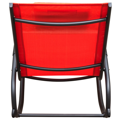 Patio Aluminum Zero Gravity Chair Orbital Rocking Lounge Chair with PillowCapacity 250 PoundsRed  sc 1 st  sundale outdoor & Patio Aluminum Zero Gravity Chair Orbital Rocking Lounge Chair with ...