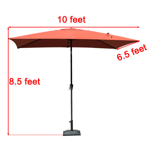 Incroyable Sundale Outdoor 6.5 X 10 Ft Sunbrella® Canopy Rectangular Umbrella Patio  Garden Outdoor Aluminum Market