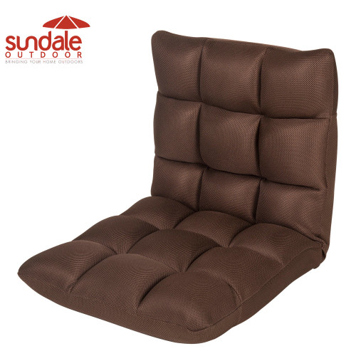 Sundale Outdoor Indoor Adjustable Soft-Brushed Polyester Cord Five-Position Multiangle Folding Chair,Dark Brown