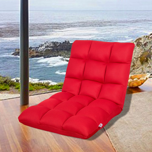Sundale Outdoor Indoor Adjustable Soft-Brushed Polyester Cord Five-Position Multiangle Folding Chair, Red …