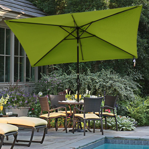 Sundale Outdoor 6.5 X 10 Ft Sunbrella® Canopy Rectangular Umbrella Patio  Garden Outdoor Aluminum Market
