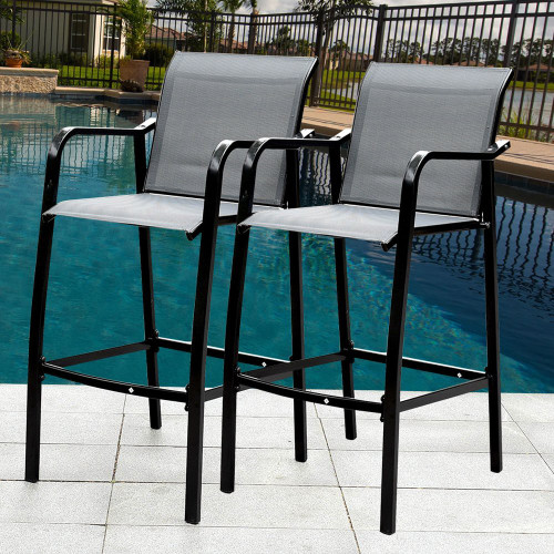 Sundale Outdoor Counter Height Bar Stool All Weather Patio