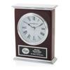 Silver Laurel Clock