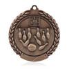 "Bowling 1 3/4""  Wreath Medal"
