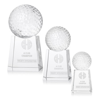 Golf Triumph Optical Crystal Award