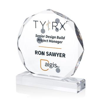 Octagon Acrylic Award