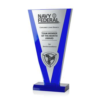 Cobalt Victory Acrylic Award
