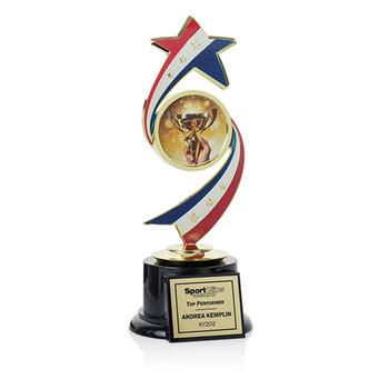 "Stars & Stripes Series 9 1/2"" Trophy"