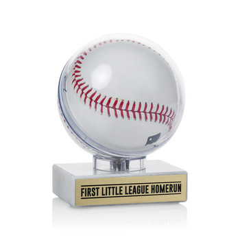 Baseball Clear Display - Marble