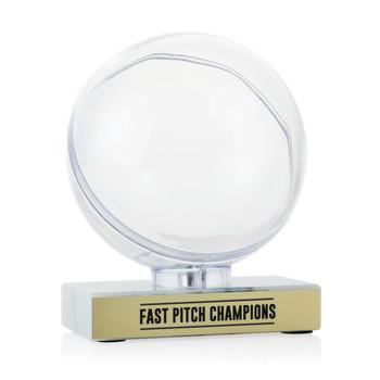 Softball Clear Display - Marble