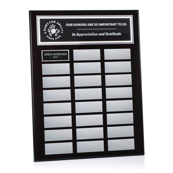 Ebony Pianowood Perpetual Plaque