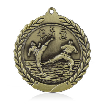 "Karate 1 3/4""  Wreath Medal"