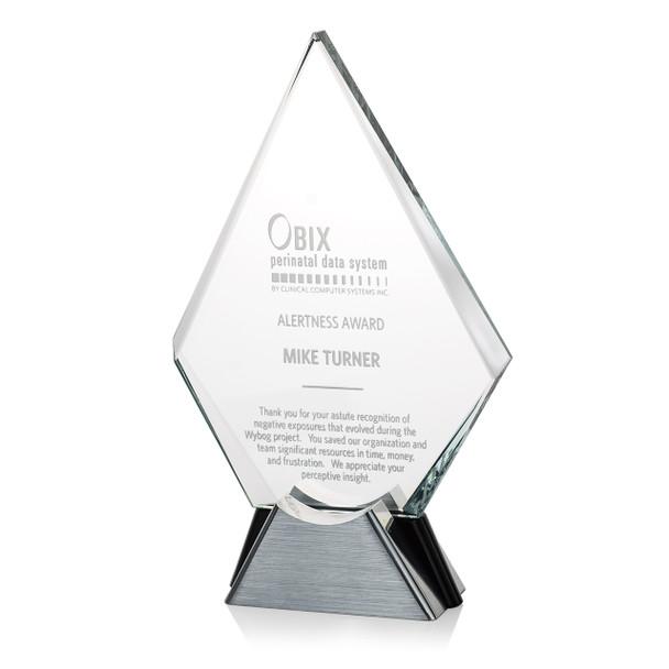 Platinum Diamond Onyx Accent Award