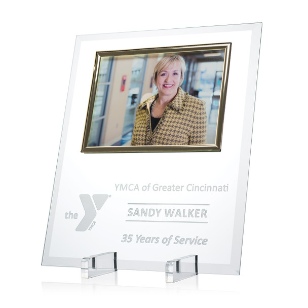 Glass Photo Plaque
