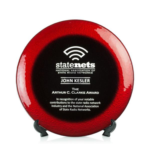 Allure Art Glass Award - Red