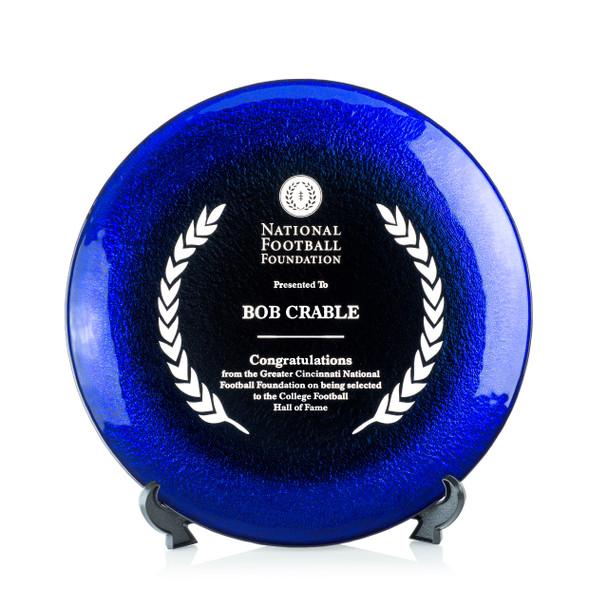 Allure Art Glass Award - Blue
