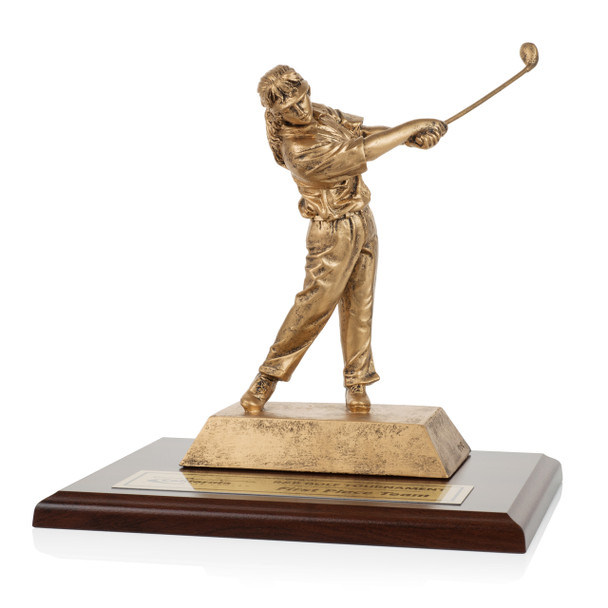 Sculptured Golf Award with Base