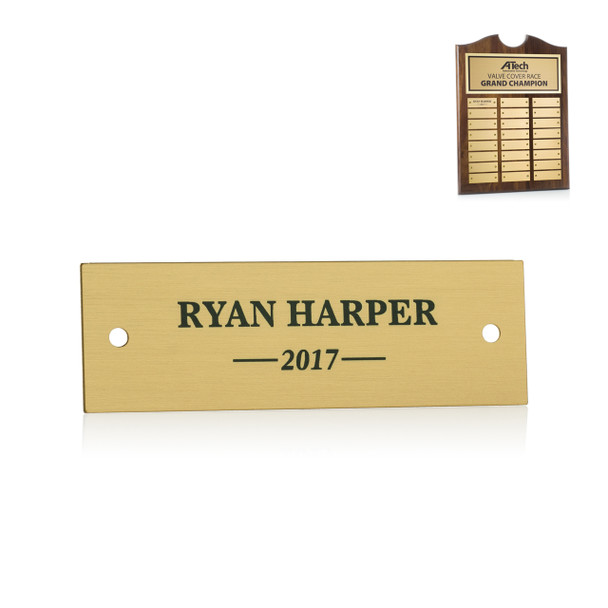 Roster Plaque Perpetual Plate