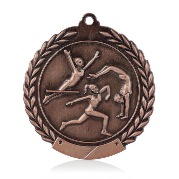 """Gymnastics 1 3/4""""  Wreath Medal"""